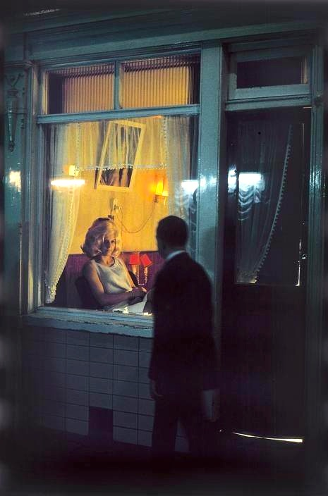 This is how the Red Light District in Amsterdam looked like in 1968. Photo by Elliott Erwitt