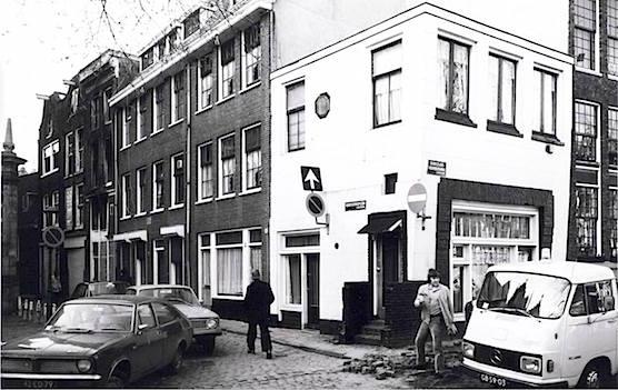 Coffee shop Quartier Putain - Old Church Square in 1977 - Amsterdam