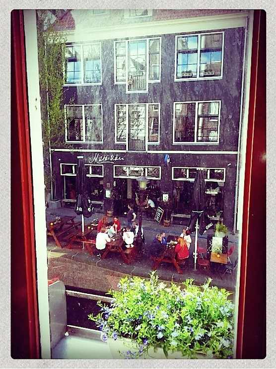 Restaurant Bird and Restaurant Mata Hari in Amsterdam Red Light District