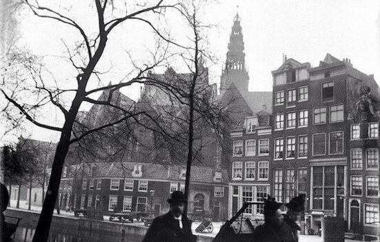 "Amsterdam Red Light District History. ""De Wallen"" in 1886 in front of the Old Church."