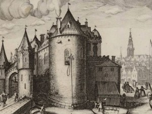 An old image of The Waag in Amsterdam