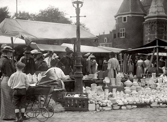 Amsterdam's Nieuwmarkt and The Waag in 1916.