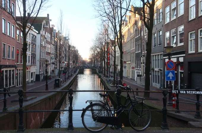 Amsterdam's Red Light District Canals