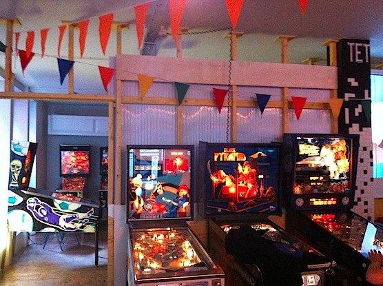 Pinball in the TonTon Club in Amsterdam