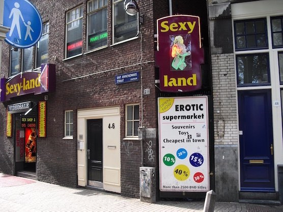 The TonTon Club in Amsterdam used to be a peep show place called Sexy Land.