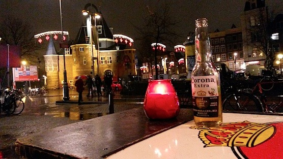 The terrace view at Mexican Restaurant Los Pilones in Amsterdam