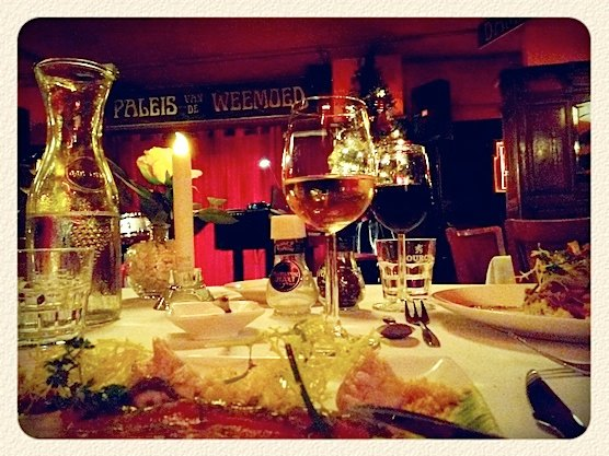 Hot spot restaurant Paleis van de Weemoed in Amsterdam. Just 5 minutes away from Central Station.