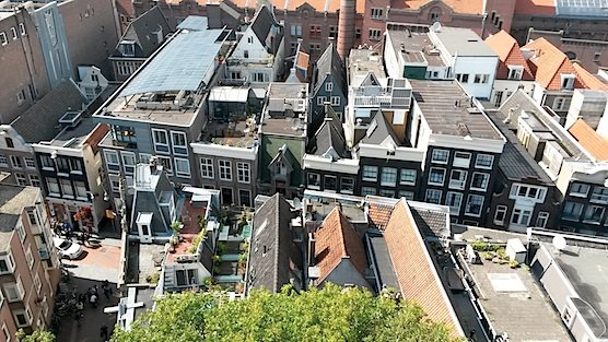 Amsterdam from above: The Warmoesstraat in The Red Light District.