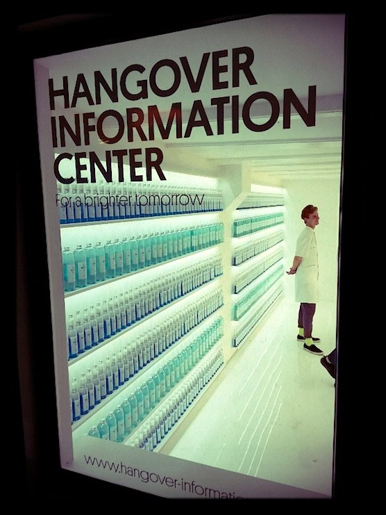Hangover Information Center in Amsterdam's Red Light District.