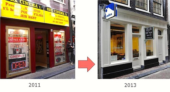 Amsterdam Red Light District now and then.