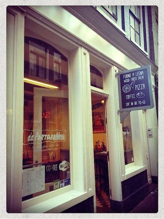 Restaurant Da Portare Via is a new pizzeria in Amsterdam's Red Light District.