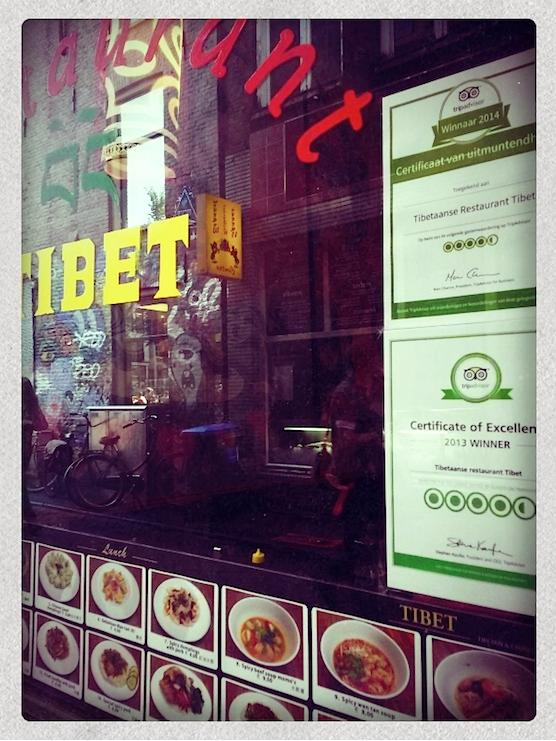 Restaurant Tibet in Amsterdam's Red Light District.
