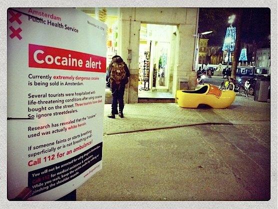 Amsterdam Anti Drug Campaign against street dealers.