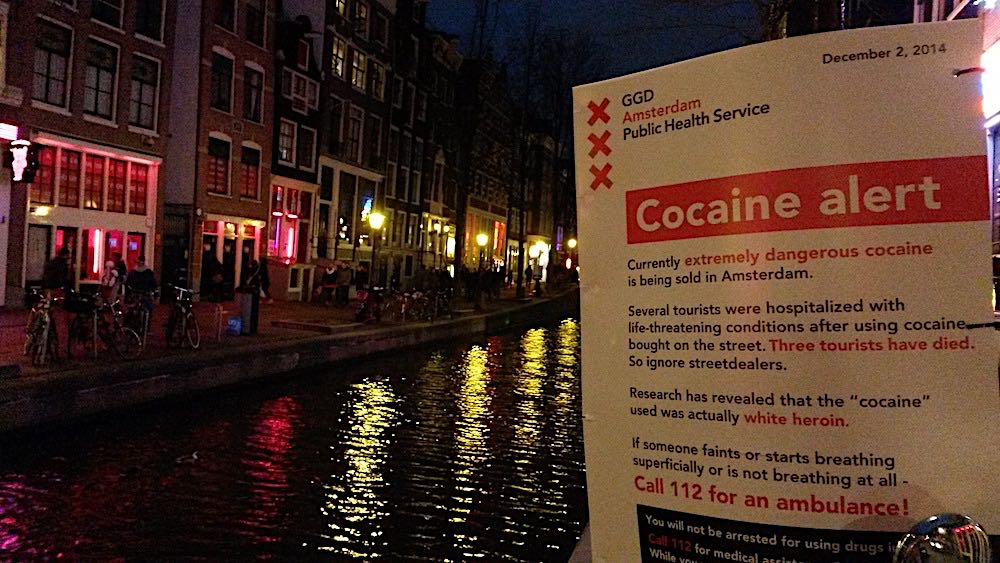 Amsterdam Anti Drug Campaign against street dealers.