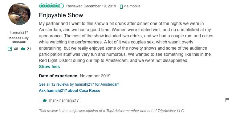 casa rosso amsterdam review
