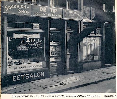 Amsterdam, Red Light District, Zeedijk, 1958. This is now Patta Fashion Store.