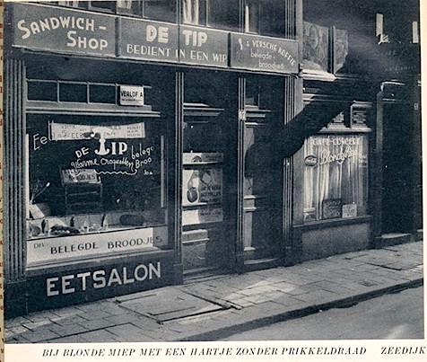 Amsterdam, Red Light District, Zeedijk, 1958. This is now Patta Fashion Store.