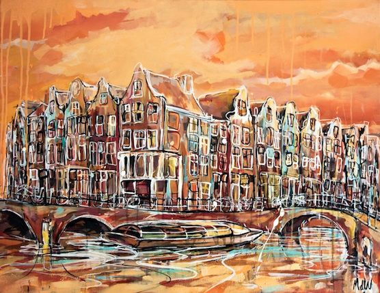 Amsterdam Postcards: Awesome souvenir of the canals. Keizersgracht and Leidsegracht