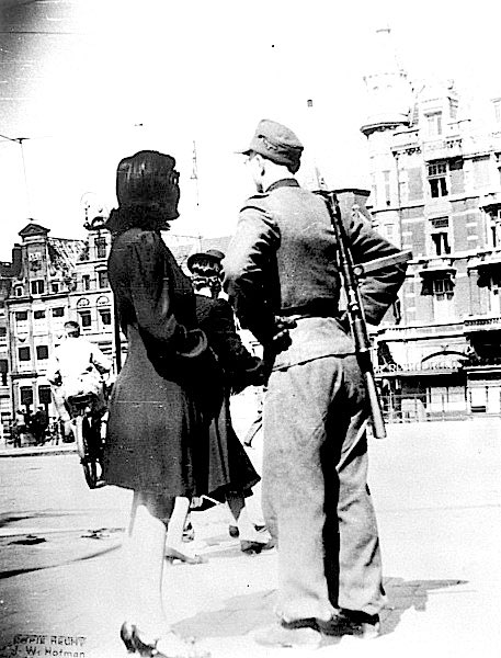 German soldier with prostitute in Amsterdam