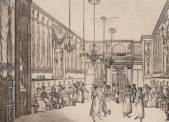 "History of Prostitution - Interior of a brothel ""De Pijl"" in Amsterdam. 1810"