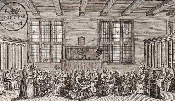 History of Prostitution - Interior of a Spin House - 1700