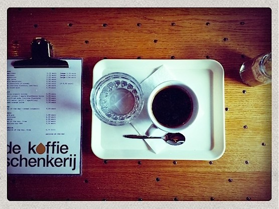 Enjoy a super tasty coffee in Amsterdam's Koffieschenkerij