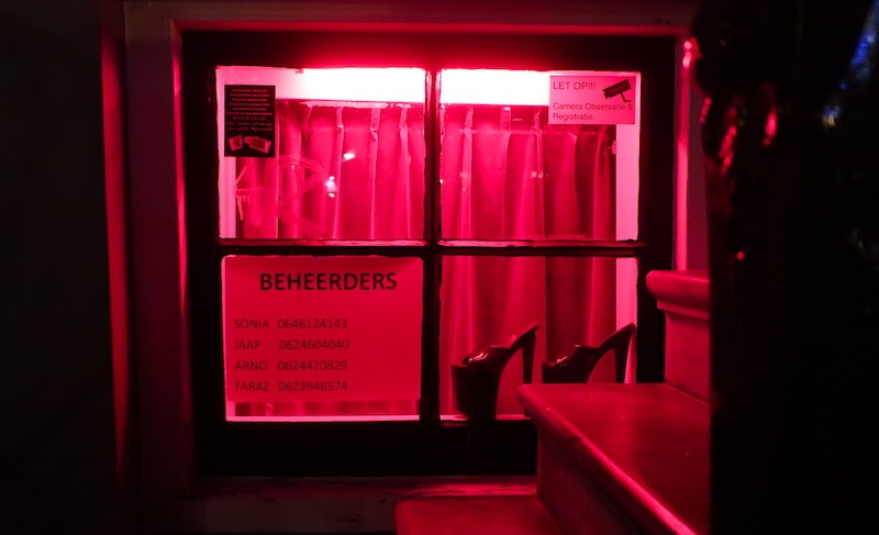 Dutch prostitute rent window brothel Amsterdam Red Light District