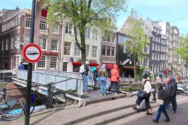 3D Printed Bridge Steel Location Amsterdam Red Light District