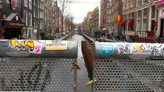 3d printed bridge in Red Light District of Amsterdam