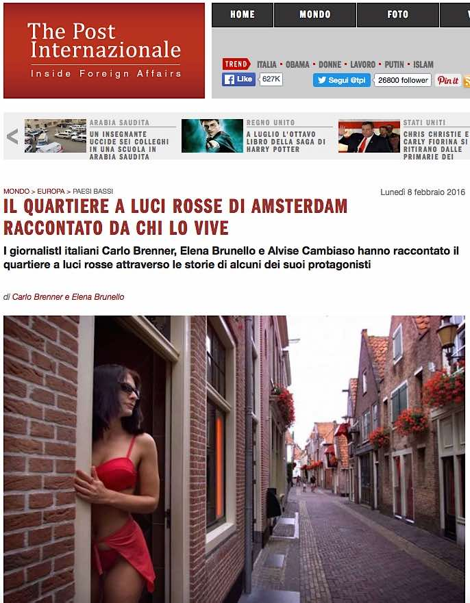 Amsterdam Red Light District on The Post Internazionale