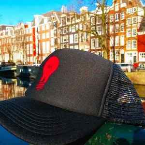 Amsterdam Red Light District Trucker Hats