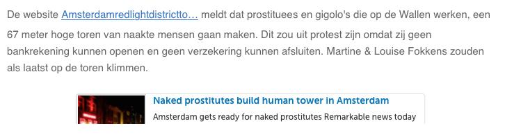 Amsterdam Red Light District in the Dutch Media Parool