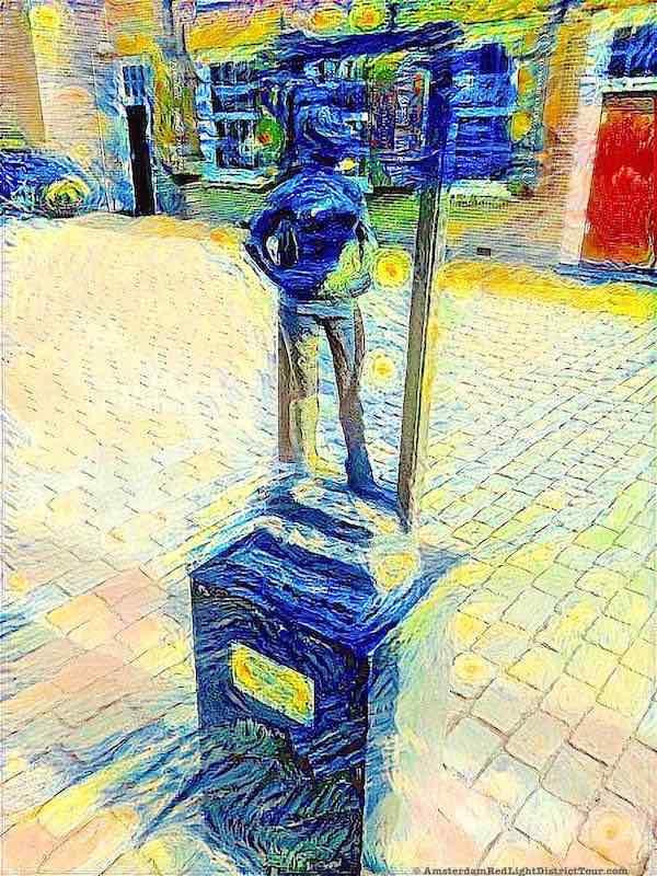 Amsterdam Wallen Statue