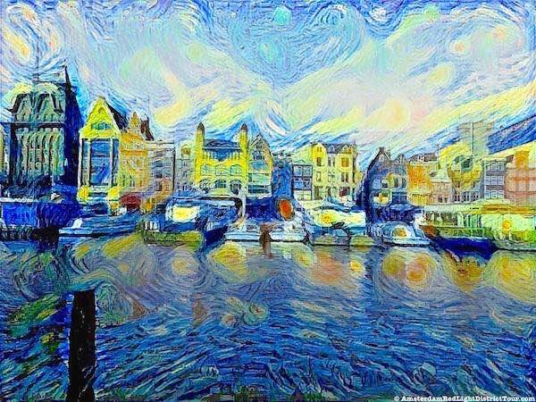 Amsterdam Damrak Van Gogh