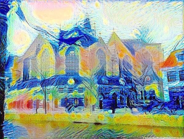 De Oude Kerk Vincent Van Gogh
