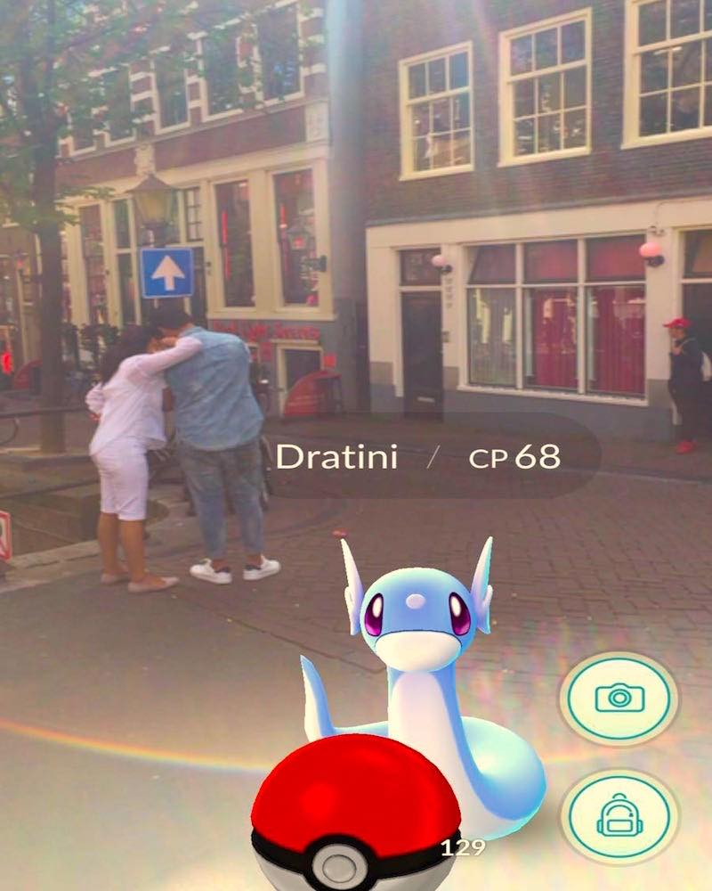 Amsterdam Red Light District Pokemon Pokestops
