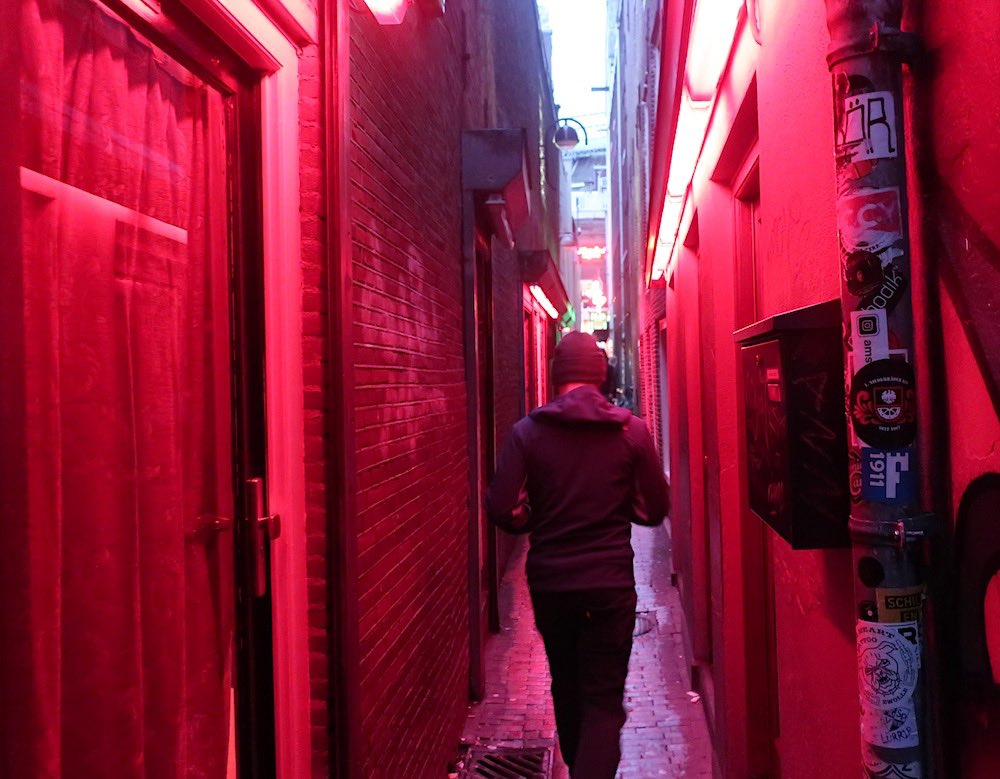 amsterdam red light district street