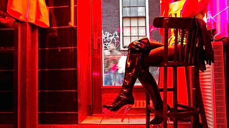 Amsterdam Red Light District Window Prostitute