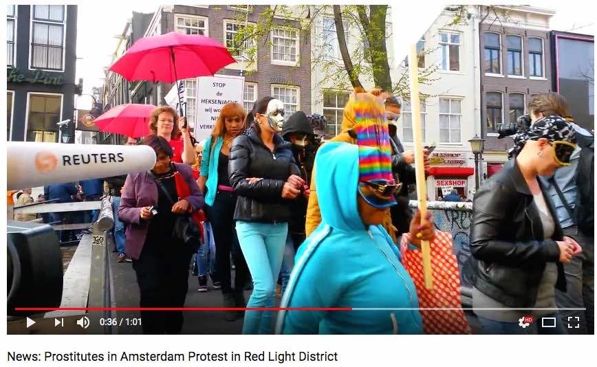 Prostitution in the Netherlands: Protest in Red Light District