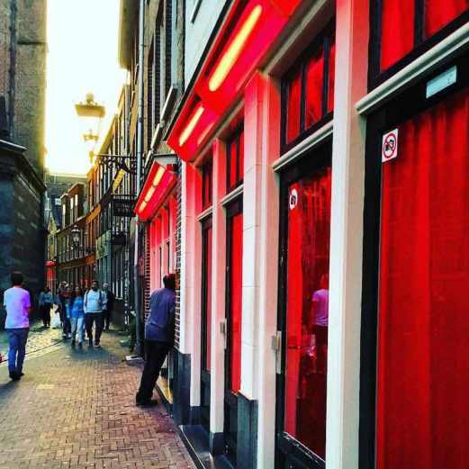 Tourism economy in Amsterdam Red Light District