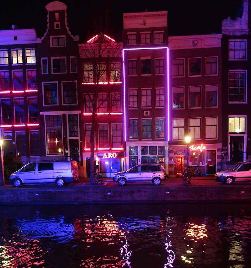 Red Light District Map Amsterdam Holland