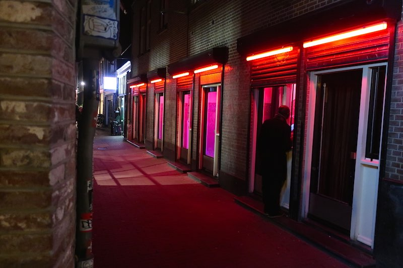 Amsterdam Red Light District Area Window Brothels