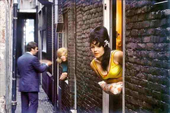 Prostitutes in Amsterdam Red Light District 1960s