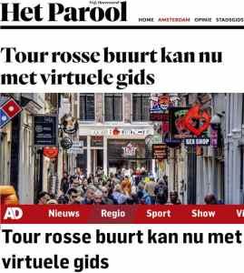 Amsterdam Red Light District Audio Tour Dutch media coverage