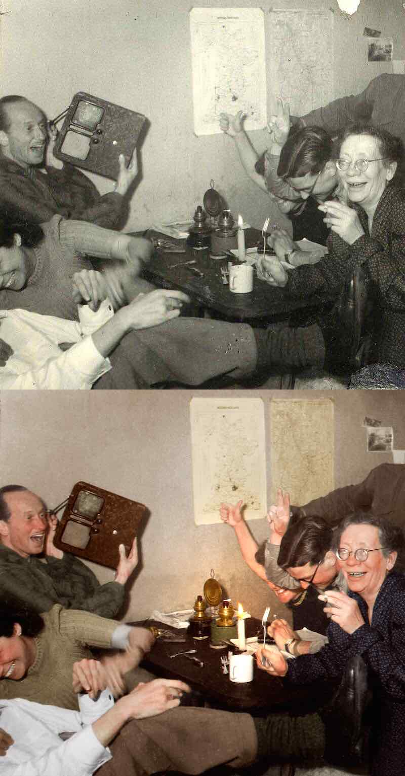 Red Light District History Dutch Resistance Members Celebrate