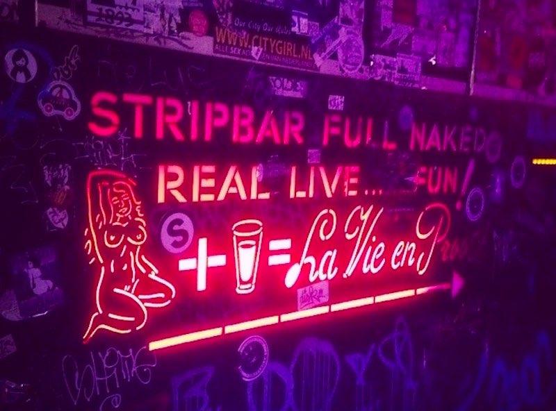 Amsterdam Prostitution Menu