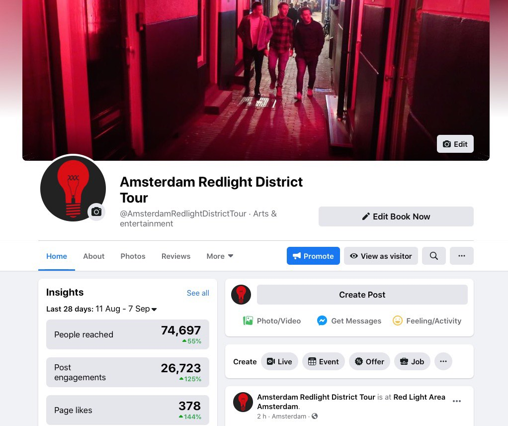 amsterdam red light district tour facebook
