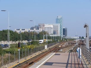 The Zuidas business district in Amsterdam