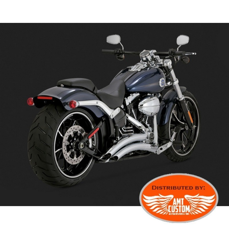 exhaust and muffler ref 12 18001582 softail big radius black or chrome exhaust for harley davidson breakout fat boy cvo
