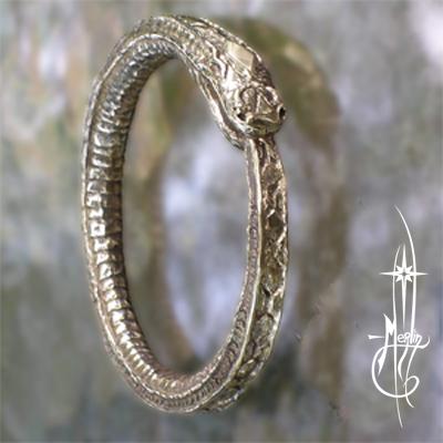 Custom Worm Ouroboros Amulet